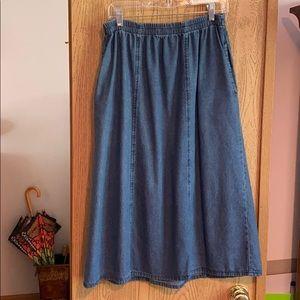 Vermont Country Store Denim Skirt M